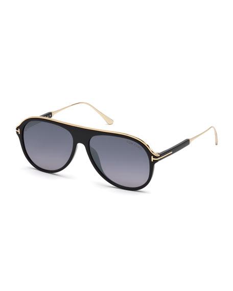 Men's Shield Acetate Sunglasses - Gradient Lens