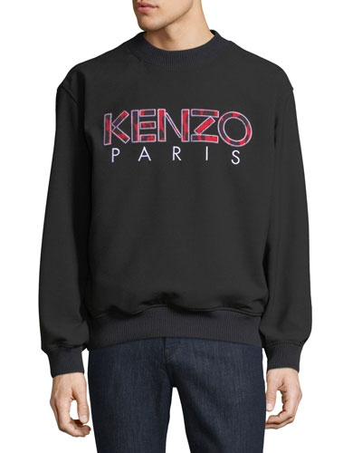 Men's Logo Crewneck Woven Sweatshirt