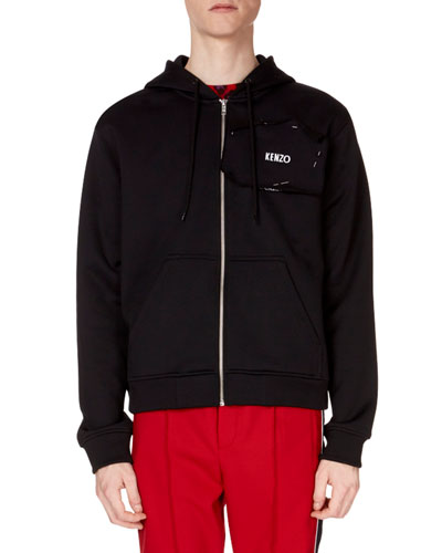 Men's Back-Graphic Zip-Front Hoodie Sweatshirt