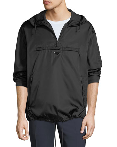 Men's Nylon Quarter-Zip Pullover Coat