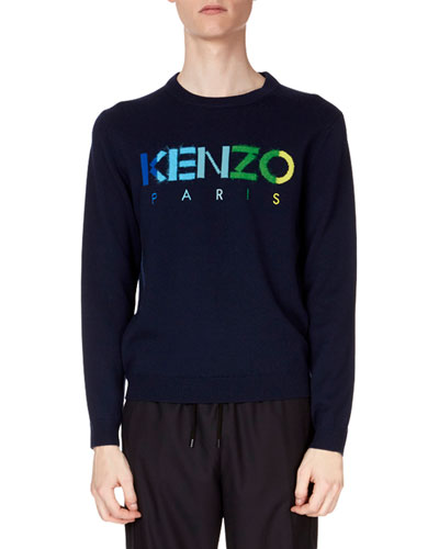 Men's Paris Logo Wool Sweater