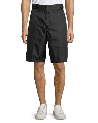 Men's Nylon Tab-Front Shorts