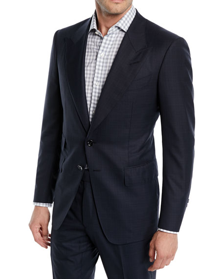 TOM FORD Men's Shelton Base Wool-Silk Two-Piece Suit