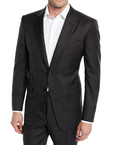 Men's O'Connor Check Stretch-Wool Two-Piece Suit