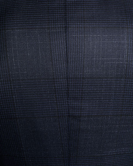 Men's O'Connor Exploded Plaid Wool-Silk Blazer Jacket