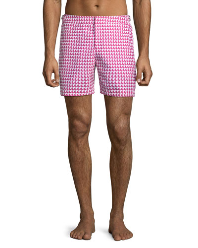 Men's Bulldog Aruba Printed Swim Trunks