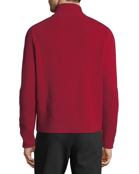 Men's Zip-Front Down Puffer Sweater