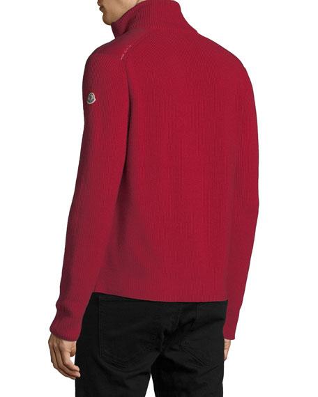 Moncler Men S Zip Front Down Puffer Sweater