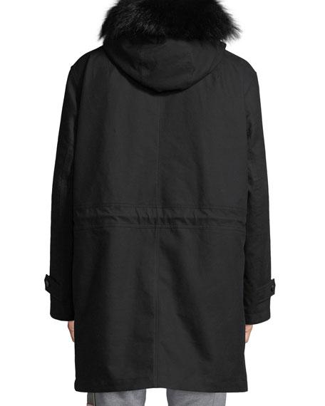 Men's Talence Fur-Trim Hooded Jacket