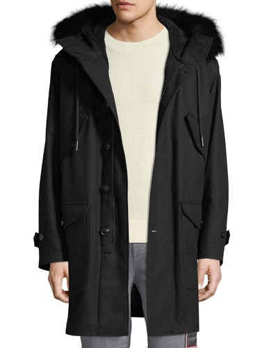 Men's Talence Fur-Trim Hooded Jacket