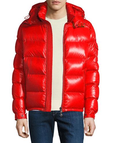 Men's Maya Shiny Down Puffer Jacket with Hood