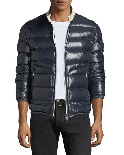 Men's Aubert Quilted Zip-Front Jacket