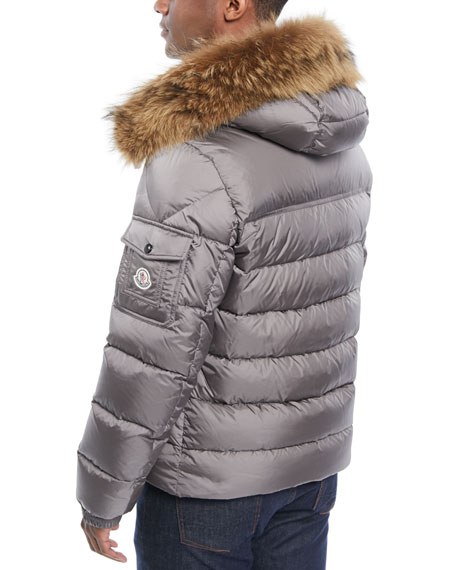 Moncler Men s Marque Fur-Trim Puffer Jacket 5dca59b32e6