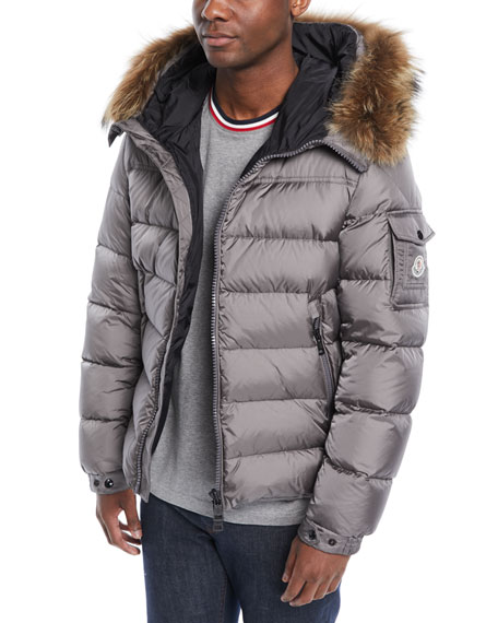 Men's Marque Fur-Trim Puffer Jacket