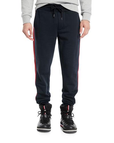 Men's Drawstring Side-Stripe Sweatpants