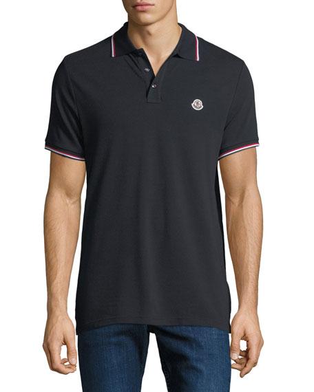 de8aa3aa1839 Moncler Men s Striped-Trim Polo Shirt