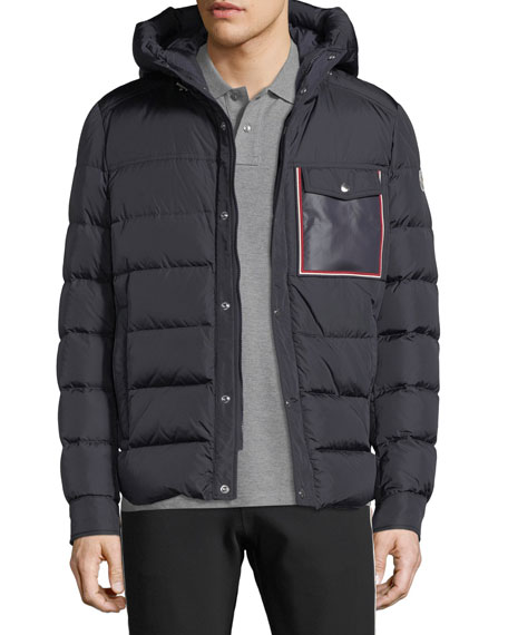 Moncler Men's Prevot Hooded Puffer Jacket with Pocket