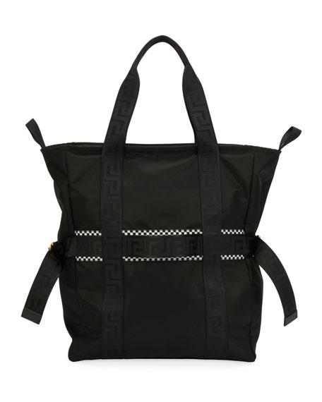 Men's Greek Chain Nylon Tote Bag