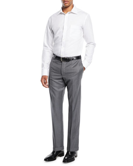 Benson 150s Wool Standard-Fit Trousers
