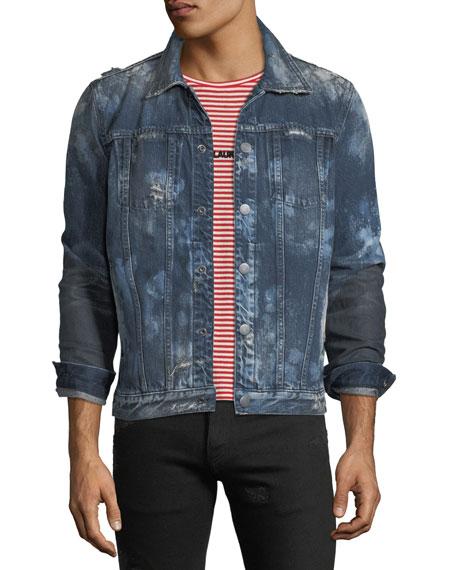 Hudson Men's Donovan Distressed Denim Jacket