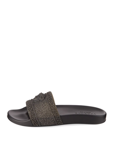 9ece026881271 Versace Men s Glitter Shower Slide Sandals