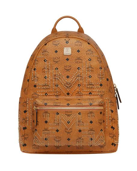 1bd134e4cc3 MCM Men s Stark Gunta Medium Studded Backpack