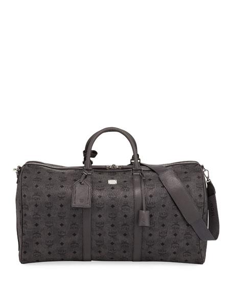 44dd9686195 MCM Men s Traveler Visetos Extra Large Weekender Duffel Bag