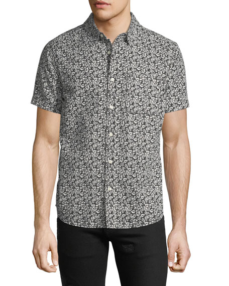 AG Men's Nash Floral-Print Short-Sleeve Sport Shirt