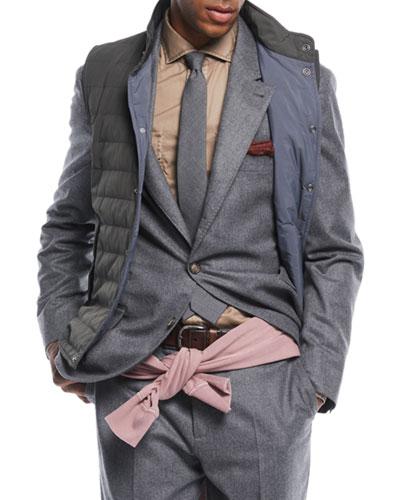 Men's Flannel Wool Two-Piece Suit