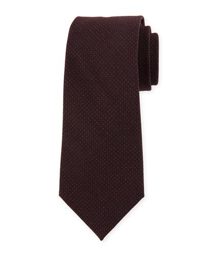 Tonal-Dot Wool Tie