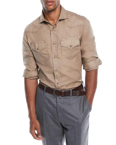 Men's Western-Style Oxford Shirt