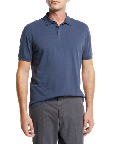 Men's Solid Pique Polo Shirt