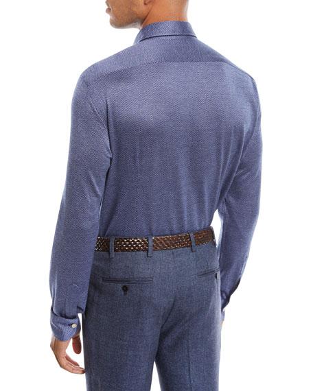 Men's Cotton Herringbone Shirt
