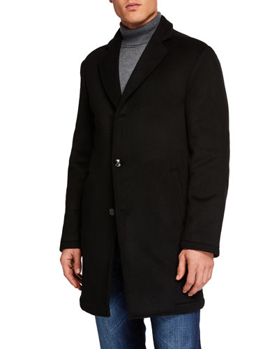 Men's Cashmere Single Breasted Coat
