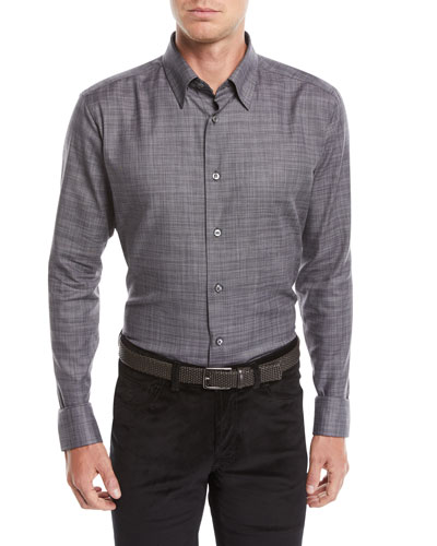 Men's Heathered Cotton Shirt
