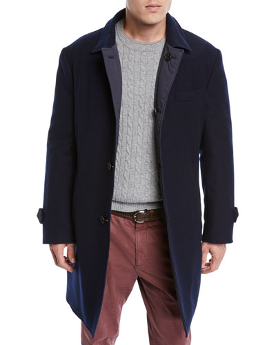 Men's Reversible Wool/Cashmere Coat
