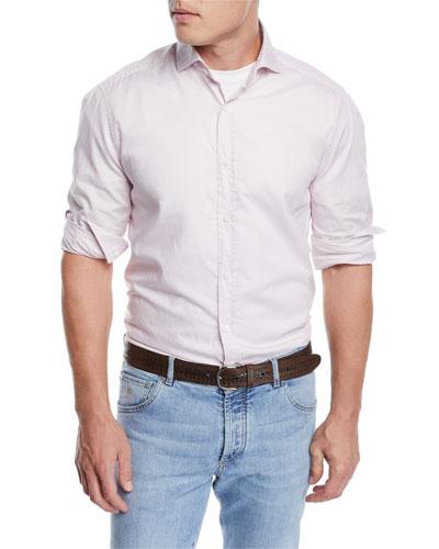 Men's Washed Cotton Oxford Shirt