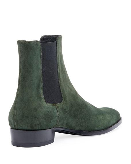 6289a9beb7e Men's Wyatt 30mm Suede Chelsea Boot Green
