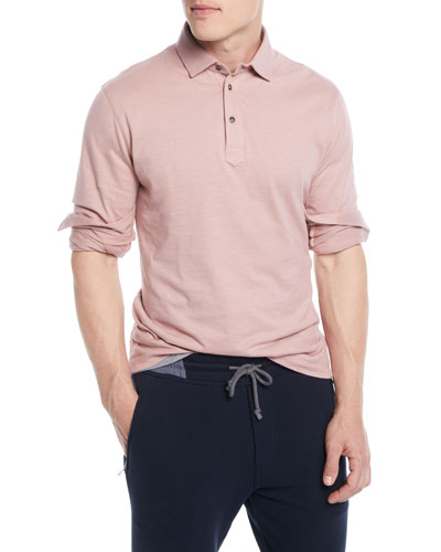 Men's Long-Sleeve Polo Shirt