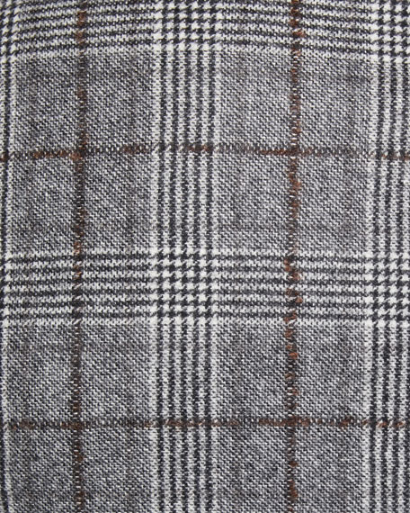 Men's Prince of Wales Overcheck Wool Jacket