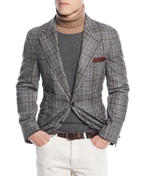 Brunello Cucinelli Men's Prince of Wales Overcheck Wool