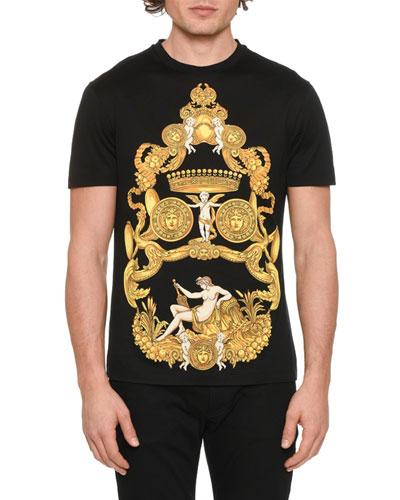 Men's Signature Greek-Pattern Graphic T-Shirt