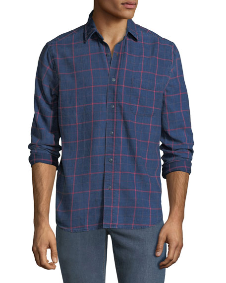 Faherty MEN'S VENTURA LONG-SLEEVE COTTON SHIRT