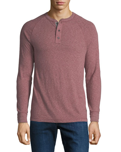 Men's Luxe Heather Organic Slub Henley Shirt