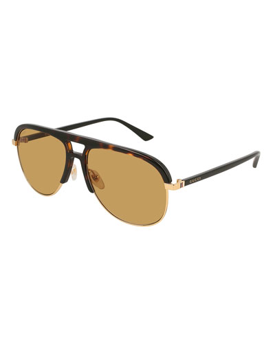 Men's Shield Metal Sunglasses