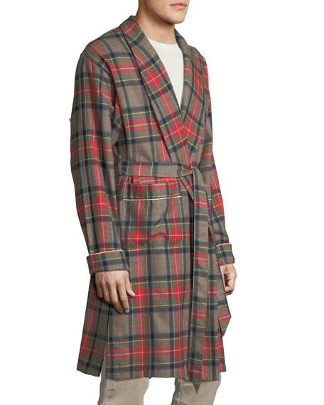 Fear of God Open-Front Plaid Wool Robe 6fb67fb06593