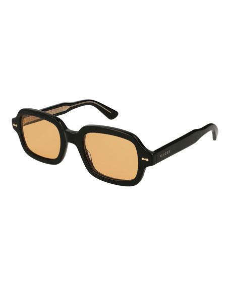 b3d2c0ce969b Gucci Men's Square Acetate Sunglasses