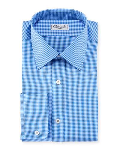 Men's Tonal Tattersall Cotton Dress Shirt