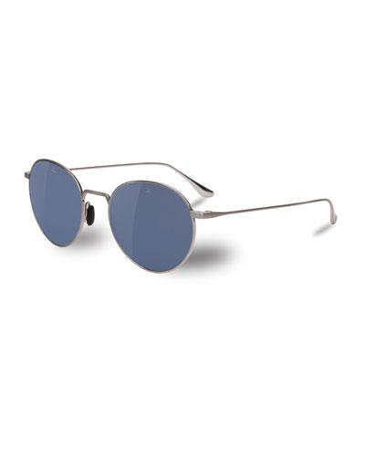 Swing Small Round Titanium Sunglasses