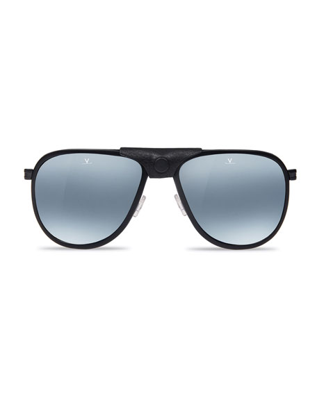 1b7035087e Vuarnet Men s Glacier XL Polarized Sunglasses w  Removable Leather ...